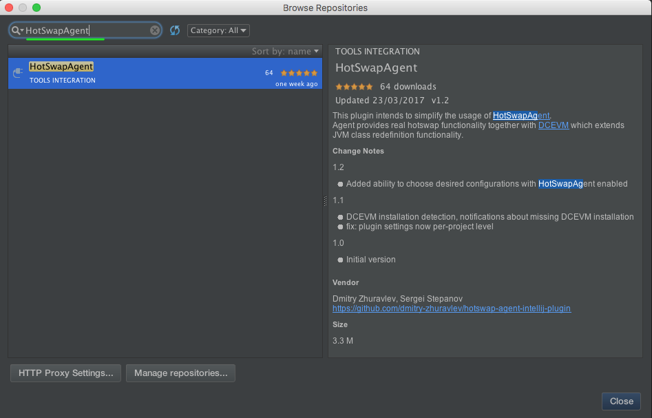 Intellij IDEA setup | HotswapAgent